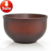 baby brown rice - High quality Hot chestnut tree wooden bowl soup noodle chinese rice eco friedly baby wood bowls cm