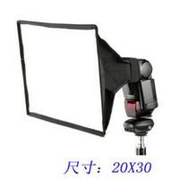 Wholesale 20x30 lambed box flash softbox flash diffusers measurement cm for canon EX EX EX EZ EX EX