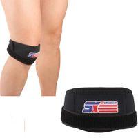 Wholesale New SX541 Adjustable Neoprene Sports Football Basketball Volleyball Kneepad Knee Patella Protector Guard Pad Black