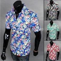 beach short breaks - The new summer beach Broken beautiful short sleeved shirt Necessary summer men casual shirts with short sleeves