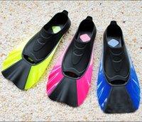 adjustable swim fins - Submersible Flipper Long Fins Snorkeling Adjustable Submersible Swimming Snorkel Diving Swim Fins Palm Flying Fish Webbed New