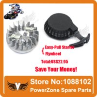 aluminum flywheel - Aluminum Pull starter With Flywheel Easy to Pull Fit cc cc Stoke Mini Dirt Pocket Pit Bike Moto