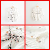 winter long sleeves dress - 2015 New Cute Floral Embroider Buttons Dresses Sweet Princess Fall Winter Sash Long Sleeve Casual Dress Rope Belts Fashion Dresses