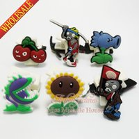 Wholesale Plants vs Zombies paper clip binder clip plastic clip Paper Clips bookmarks cartoon bookmarks soft rubber PVC bookmarks for stationery