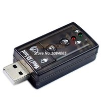 Wholesale USB to D Sound Card Mic Speaker Audio Adapter Channel for PC or Laptop B14