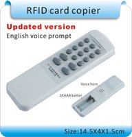 rfid handheld reader - 2014 newest Handheld Khz RFID Copier Duplicator Cloner ID EM reader writer with EM4305 writable cards or keyfobs