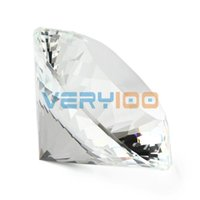 Wholesale High Quality mm Clear K9 Crystal Paperweight Cut Glass Large Giant Diamond Jewel Gift order lt no track