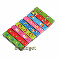 Wholesale Woodwind Instruments Tremolo Harmonica Holes Kids Musical Instrument Educational Musical Toy