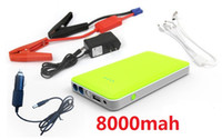 Wholesale 8000mAh charger Multi Function Car emergency start power car power bank Jump Starter cell phone External Rechargeable Battery FEDEX Free