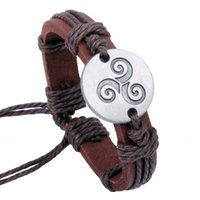american soldering - Western Han Dynasty Solder Patina Hollow Flower Snap Jewelry Leather Bracelets for Women Multilayer Infinity Black Charm Bracelet for Men
