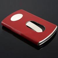 metal business card case - Business Card Holders Push Card Holder Business Card Case Stainless Steel Metal Case Box T158 salebags