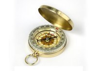 Wholesale Night Vision Delicate Brass Pocket Watch Style Outdoor Sport Camping Compass