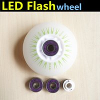 Wholesale Combination Inline Skates LED Flash Wheel A Shinning Skating Wheels ABEC ILQ ILQ Bearing Magnetic Core
