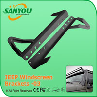 Wholesale 2 LED Work Light Bar Offroad Driving Lamp Brackets Roof Windshield Mounting Brackets support for JEEP Wrangler JK