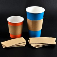 Wholesale Paper Insulating Hot Cup Coffee Sleeve Fits Oz Oz Cups paper coffee cup sleeve for heat insulation