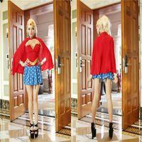 comic books - Wonder Woman comic book hero clothes Halloween costume Cosplay Superman costume party magenta real shot
