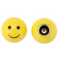 Wholesale 2pcs Smile Face Ball MTB Road Bicycle Bike Valve Cap Motor Car Schrader Valve Mouth Cover Tyre Stem Wheel Air Valve Dust Cap order lt no tra