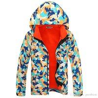 Men army jacket kids - 2016 Kids Winter in1 Jacket Boys Waterproof Windproof Outdoor Ski Running Sports Coat Fleece Lined Hooded Travel Clothes Years