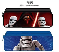 best old school bag - Star Wars Pencil Bags student stationery Pencil Cases best gift For Children in stock BY0000