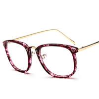 Wholesale Eyeglass frame fashion glasses frame influx of people retro metal box plain mirror mirror legs k1151