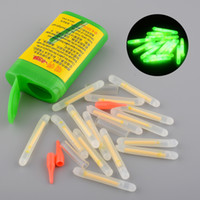 Wholesale 150X Mini x36mm Fishing Fish Fluorescent Lightstick Light Night Float Rod Lights Dark Glow Stick Useful