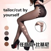 women silk socks - Top Quality Sexy Bikini silk stockings Prevent tailor snagged slicing up Butterfly crotch stockings For Women Tights Socks