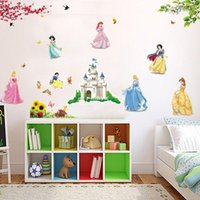 white bedroom furniture - bedroom decoration The new children s room wall stickers cartoon bedroom background wall decoration stickers furniture stickers Snow White D
