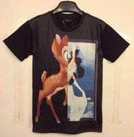 Cheap [Mikeal] New Fashion men's 3D t-shirt funny print half animal deer sexy naked women Tshirt Tops black DT17