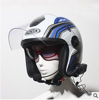 bluetooth motorcycle helmet - DHL Free Meters Intercom For Motorcycle Motorcycle Helmet Bluetooth Intercom Headsets Automatic Call Answering