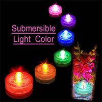 Wholesale Colorful LED Candle Lights Bulbs IP68 Waterproof Flood Lights W PS Plastic Material Suitable for Valentine s Day