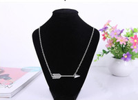 arrow factory - Promotion Jewelry Pendant Necklaces Middle Eastern Unisex Gift Angel Chain Silver Retro Necklace Big Arrow Sale Factory Sweater