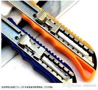 Wholesale Cheap Trimmer Utility knife Wallpaper knife Plastic handle kid Art class tool Office Cutting Supplies