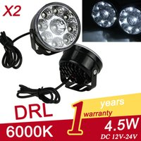 Cheap 70100 2x 9LED Car Front Fog Tail Lamp Round Daytime Driving Running Light