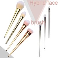 Wholesale 7 Professional Cosmetic Foundation Powder Brushes Face Makeup Brush Powder Brush Gold Silver Rose Gold