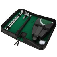 automatic putting - Indoor Golf Set Putter Automatic Golf Ball Kick Back Return Putting Cup Device Golf Training Aids Set