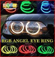 Wholesale Newest Update MM RGB Led SMD Angel Eye Ring Kit case for B MW E36 E38 E39 E46 Waterproof CCFL Headlight A Freeshipping GGG