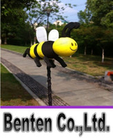 Wholesale Hot New Car Antennas Car Exterior Happy Honey Bumble Bee Car Aerial Ball Antenna Topper LLFA3910F