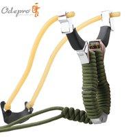 Wholesale Odepro hunting professional slingshot RUBBER BANDS heavy spring aluminum alloy slingshot pocket catapult for outdoor game self defense