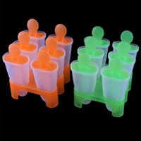 Wholesale Mini Portable Cell Frozen Ice Cream Pop Mold Popsicle Maker Lolly Mould Tray Pan Kitchen DIY
