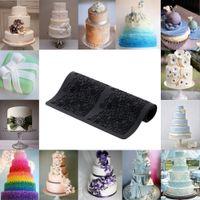 Wholesale Black Silicone Fondant Cakes Mold Lace Baking Mold DIY Cake Decoration Kitchen Tool cm H15665