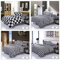 leopard print bedding - Plaid Striped Leopard Printed Bedding Set Home Textile Black White Quilt Duvet Cover Queen King Bedclothes Bed Linen Cotton