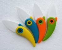 Wholesale New hot Mini Bird Ceramic Knife Gift Knife Pocket Ceramic Folding Knives Kitchen Fruit Paring Knife With Colourful ABS Handle