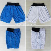 basketball dirk - Basketball Shorts Deron Williams Chandler Parsons Dirk Nowitzki Shorts Stitched White Blue Shorts