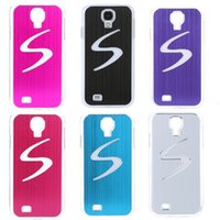 Wholesale New Stylish LED Case Cover Calling Sense Flash Light Hard Back cell Phone Shell for Samsung Galaxy S4 i9500 i9505 COLORS PA1461