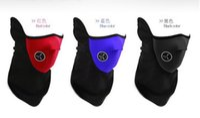 Wholesale 300pcs Men Women Boys Girls Outdoor Protection Mask Neoprene Snowboard Ski Cycling Face Masks Neck Warmer Bike Bicyle Black Blue Red D4444