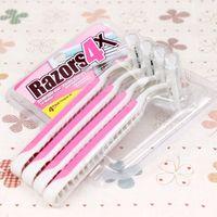 Wholesale New Ms armpit hair shaving knife multi purpose shaving machine pink Pack male razor green shaving knife Blade System