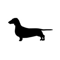 Wholesale Car Stickers Dachshund Decal Pet Vinyl Sticker For Car Suv Truck Boat Window Bumper Home Wall
