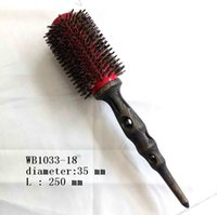 best hair color salon - Round Hair Brushes Best Quality Hair Salon Tools Natual Wood Handle Boar Nylon Red Color Five Different Size Piece Per DHL Free Ship