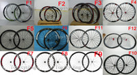 Wholesale Light weight carbon wheels mm clincher carbon road wheelset c carbon fiber bike wheels accept customizing wheels