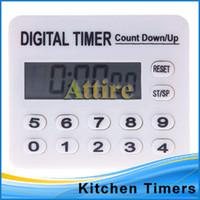 electronic clock timer - New Hot Sale Digital Home Kitchen Electronic Sports Clock Digital Timer Countdown Alarm Count Attire